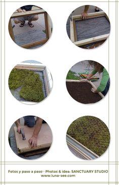 DIY: Jardín vertical de plantas crasas · DIY: vertical succulent garden - Vintage & Chic. Pequeñas historias de decoración · Vintage & Chic. Pequeñas historias de decoración · Blog decoración. Vintage. DIY. Ideas para decorar tu casa