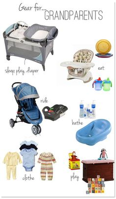 Which baby gear should you keep at the grandparents house?