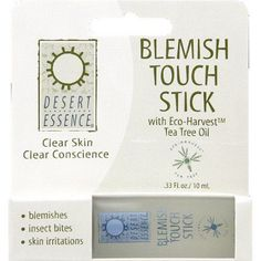 Desert Essence Blemish Touch Stick, 0.33 fl oz, (Pack of 6)