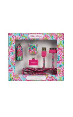 Lilly Pulitzer Charging Kit for iPhone. Wish I'd seen this before I bought the plain Apple adaptor...