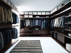 Large walk in closet idea.