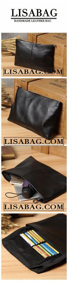 Handmade Men's Leather Clutch Handbag Card Holder Wallet 14114