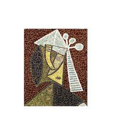 Tete de Femme, picasso glass mosaic by LaTenagliaImpazzita