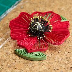 Assembling poppy flower, step 3