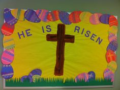 Preschool Easter bulletin board.