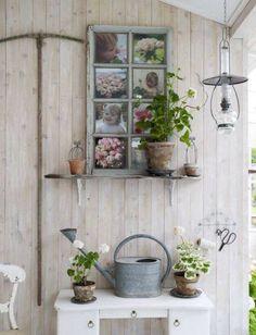 Marco de ventana para jardín