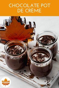 Summer Dessert Recipes, Party Desserts, Mini Desserts, Sweet Desserts, Just Desserts, Sweet Recipes, Delicious Desserts, Chocolate Pot Recipe, Chocolate Pots