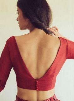 v-neck-blouse-design