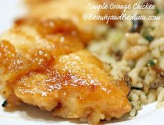 Orange Chicken - this *fast*! orange chicken recipe delivers all the taste of Orange Chicken using smartly chosen ingredients and with little-to-no fat.  This is my type of recipe - flexible to fit your family's palate, simple ingredients, and completely delicious.  (And to fit my family's palate?  We double the sauce, as the recipe author does, and usually add thinly sliced carrots and green peppers.)