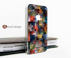 silvery iphone 4 case iphone 4s case iphone 4 cover light beautiful colors mosaic unique Iphone case design. $18.99, via Etsy.