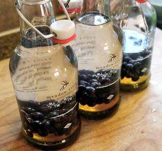 Honey & Saskatoon berry Vodka  Ingredients: Vodka of Choice Honey Saskatoon Berries