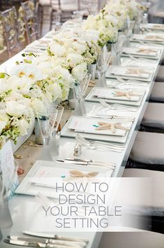 How do you take your reception tables from ordinary to extraordinary? Create a beautiful table setting with our top 5 tips: http://www.colincowieweddings.com/articles/ideas-how-tos/how-to-design-your-table-setting #WeddingCenterpieces