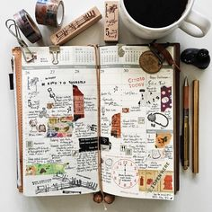 | a look back • week 44 | #liveauthentic #livefolk #livethelittlethings #nothingisordinary #coffee #coffeetime #onthetable #papercraft #midoritravelersnotebook #travelersnotebook #travelersnote #travelersfactory #midori #planner #plannernerd #plannerlove #journal #stationerylove #stationery #scrapbooking #stamps #washitape #zakka #typography #handwriting #vsco #vscocam