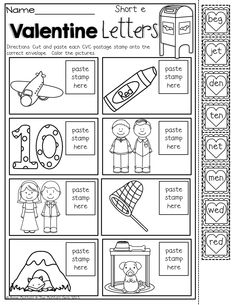 Valentine\'s Day Kindergarten Math Worksheets | Valentine\'s Day ...