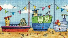 Boats - By the Sea - Cross Stitch Pattern