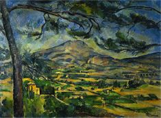 off Hand made oil painting reproduction of Mont Sainte Victoire (Courtauld), one of the most famous paintings by Paul Cezanne. Aix-en-Provence, the small village north of Marseille. Cezanne Art, Paul Cezanne Paintings, Georges Seurat, Aix En Provence, Provence France, Fondation Louis Vuitton, Hieronymus Bosch, Gustav Klimt, Claude Monet