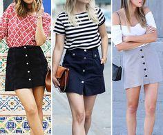 Saia jeans com botões: reviva os anos 70 com essa tendência!   Garotas do Brasil – Via Marte