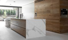 Today I Like: this Natural Wood Kitchen