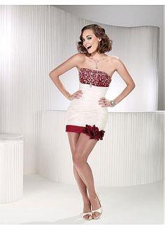 Taffeta  & Tulle Strapless Neckline 2 In 1 Wedding Dresses