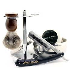Gift Set For the toughest dragon hunters in your life contains a Premium Carbon Steel Straight Razor, ZY Alloy Brush Stand, Pure Badger Brush, Stainless Steel Bowl, And our Premium Beard Soap Best Straight Razor, Straight Razor Shaving, Shaving Razor, Shaving Brush, Wet Shaving, Shaving Gift Set, Beard Soap, Shave Beard, Gold
