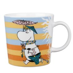 Moomin Mug - On the Beach - Arabia Finland Summer 2008 My Coffee, Coffee Cups, Tea Cups, Finland Summer, Moomin Mugs, Tove Jansson, The Beach, Ceramic Cups, Marimekko