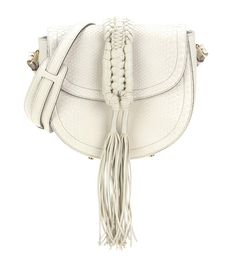 Altuzarra -  Ghianda Knot Saddleleather shoulder bag - A chalky ivory hue allows for endless pairing opportunities, while the chunky front tassels brings a decidedly cool, bohemian vibe. A stunning creation from the brand's first ever accessories line. - @ www.mytheresa.com