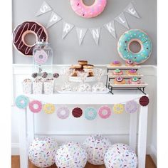 No donuts were eaten in the styling of this Donut Sprinkle baby shower. Yeah right! I loved using the adorable line of donut supplies from to create this sprinkle! Link in bio for more pics. Donut Birthday Parties, Donut Party, 1st Birthday Girls, Farm Birthday, Spa Birthday, Cupcake Party, Baby Sprinkle Decorations, Donut Decorations, Diy Birthday Decorations