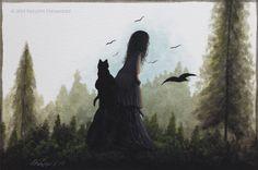 """Captivated"" Original Miniature Painting by Artist Philippe Fernandez."