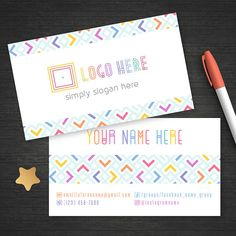 Colorful Lularoe Business Card Free Fast Personalize Home