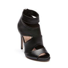 Sandalo accollato in ecopelle nero