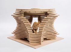 【ねこ 貓 CAT】 スタイリッシュ☆有名建築家たちが「猫ハウス」を作るとこうなる! | TABI LABO                 猫のミステリアスなパーソナリティをデザイン化したCallisonRTKLの「SILHOUETTE」。