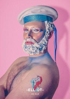 Saudades de RuPauls Drag Race? Então aí vão homens com MUITO glitter na barba vão desafiar suas ideias sobre gênero (FOTOS)