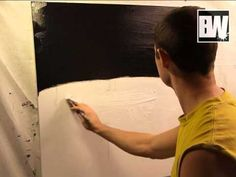 """This is an acrylic abstract painting techniques video lesson called """"Disconnected"""" part 1    In this short lesson I will explain how the process works in creating paintings. What paint I prefer using and why as well as some more helpful painting tricks and techniques.    Enjoy!    Peter"""