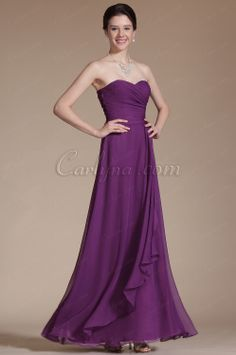 Carlyna 2014 New Simple Purple Sweetheart Evening Dress Bridesmaid Dress in www.carlyna.com/