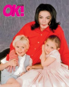 Michael Jackson and his two older children, Prince Michael and Paris Michael Katherine Jackson. This photo is a bit older by now but it certainly is sweet.