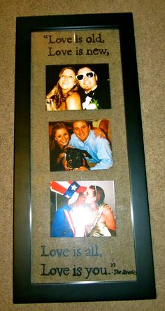 Glass picture frame I decorated with Paint pen for my bf's anniversary gift <3