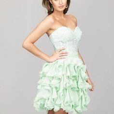 M50 2016 new fashion layers sage chiffon shortmini homecoming dresses, homecoming dresses, short homecoming dress