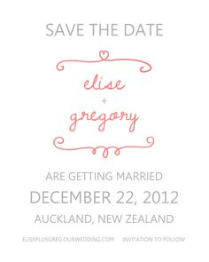 sweet and simple save the date template