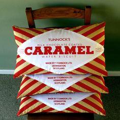 Caramel Wafer Cushion    She has some great biccie stuff. I phone covers etc.. Nostalgic