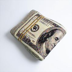Folded Banknote Shape Pillow US dollar Free shipping