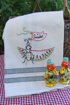 Picture of Freebie - Summer Picnic Ant Tea Towel