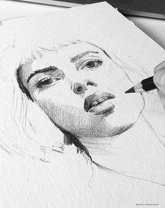 https://www.behance.net/lartcommeunique - Ink & Pencil - illustration by…