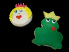 Princess and frog cookies
