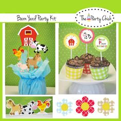 Printable  Party Kit Birthday  Barn Yard INSTANT by ThePartyChick, $14.95