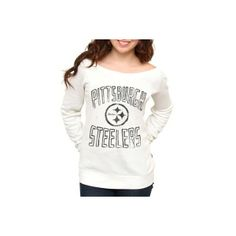2315a88c5bb Junk Food Pittsburgh Steelers Ladies Classic Off-The-Shoulder Sweatshirt  White ($50)