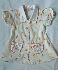 Embroidered Baby Girl Dress, Baby Girl Clothes, Baby Gift Sz 12m