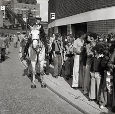 Crowd Control in 1975   Flickr - Photo Sharing!