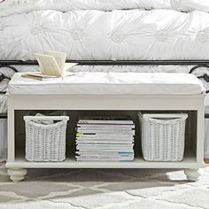 Chelsea End Of Bed Bench + Cushion #pbteen