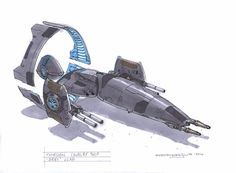 """Interesting take on sci-fi design: """"Thirgen (Third Generation) ships are divided into separate units instead of the entire ship being encapsulated in a single hull. The ship is held together by powerful electromagnetic force generators which not only permit damaged or malfunctioning elements to be quickly and easily replaced but more importantly allow the ship to be realigned according to the situation it is in."""""""