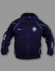 BMW POWER, Fleece Jacket, 70% Cotton 30% Polyester, Logo on front and back, 2 front pockets - zipped Size - S, M, L, XL, XXL, XXXL, PRICE $58